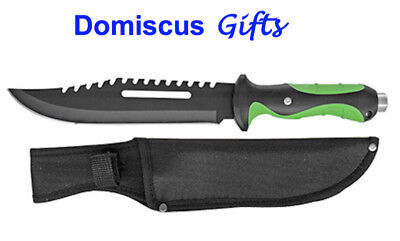 NEW! Free Ship HUNTING KNIFE Tactical Dagger BOWIE SURVIVAL Black ZOMBIE Knives
