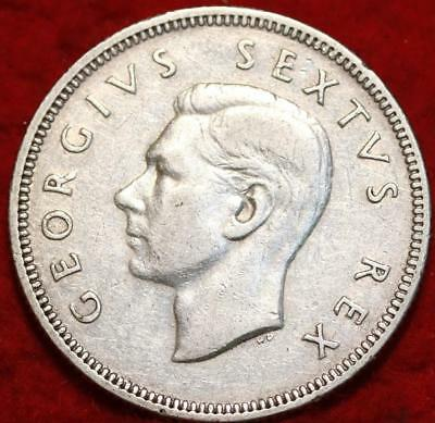 1949 South Africa 2  Shillings Silver Foreign Coin