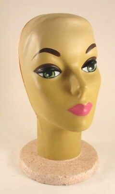 Vintage Plasti Personalities Styro Mannequin Head Wig Holder With Beautiful Face