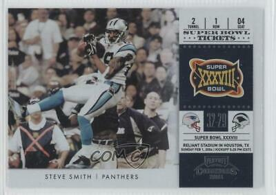 2011 Playoff Contenders Super Bowl Tickets #11 Steve Smith Carolina Panthers