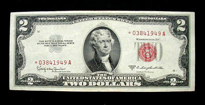 1953 USA RARE REPLACEMENT Banknote 2 dollars XF HIGH QUALITY