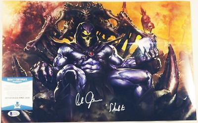 Alan Oppenheimer Skeletor Signed Motu 11X17 Metallic Photo Bas Coa 245