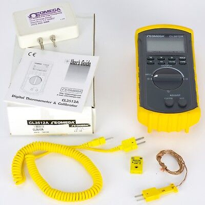 Omega Temperature Calibrator and Thermometer with Protective Case CL3512A