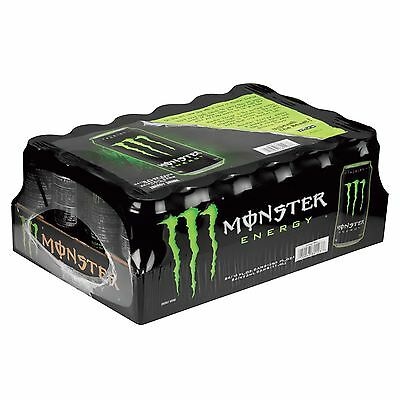 Monster Energy Drink Original Green 16oz Cans 24 Pack A Case Of 24 Cans Total