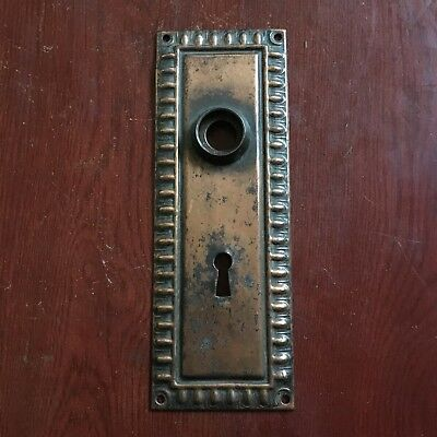 Antique  Art Deco Egg & Dart Victorian DoorKnob Backplate