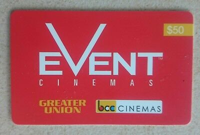 EVENT CINEMAS Gift Card $50
