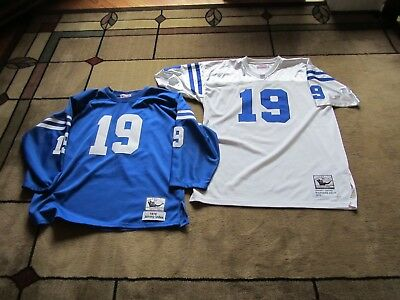 hot sale online 35e1b e4330 2 DIFF MITCHELL & NESS JOHNNY UNITAS 1970 Throwback Jersey Baltimore Colts  SZ 54