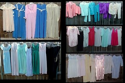 39 pc Lot Vintage Nightgowns Minor FLAWS Menders Lingerie Pajama Peignoir Sets