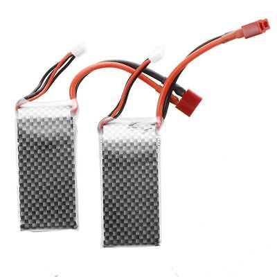 2X Lipo Battery 11.1V 3S 45C 1500mAh with Deans Connector for RC Airplane B P4N0