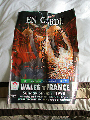Original Wales V France 5 Nations 1998 Poster