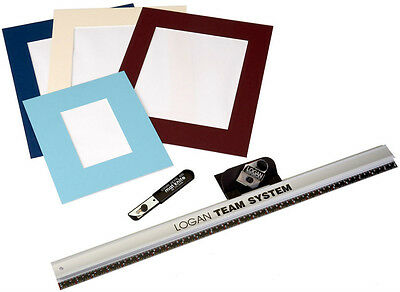 "Logan Picture Mount Cutter & 24"" Rule Team System 424-1 Bevel & Straight Cutting"