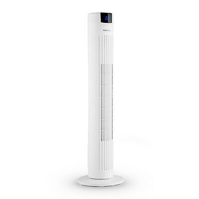 Air Fan Portable Conditioning Tower Oscillating Remote Control 40W 3 Speed White