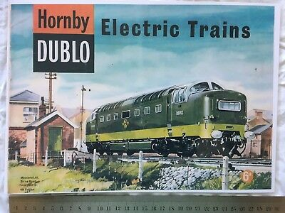HORNBY model trains 1950s A4 laminated print, to frame, art work, place mat etc