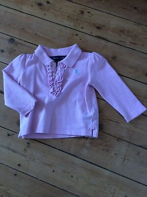 baby girl ralph lauren 12 months long sleeved polo top