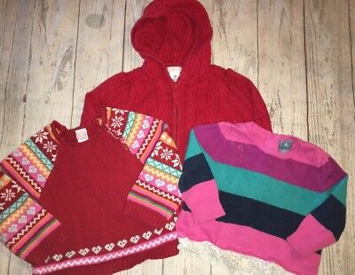 Baby Gap Old Navy Lot 6 9 12 Month Girl Sweaters Red Fair Isle