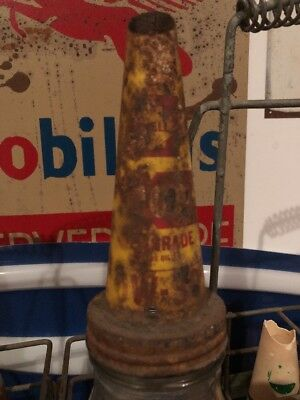 Vintage Shell Motor Oil Bottle 0/30w Tin Top Pourer Lid With Cork Seal