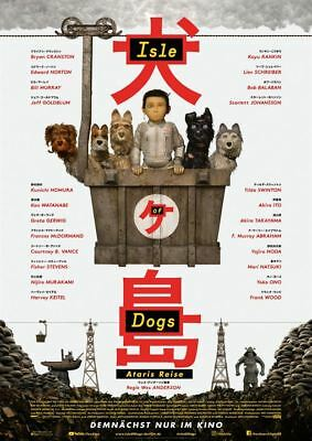 ISLE OF DOGS - ATARIS REISE ~ Filmposter A1 ~ Wes Anderson