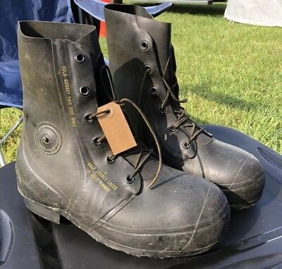 US Military MICKEY MOUSE BUNNY BOOTS 30° USGI White 8 W REPAIRED NEW