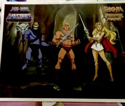 masters of the universe vintage He-Man She'ra & Skelator Lot  Prints