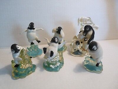 6 PENGUIN POLAR PLAYMATES issued by the Hamilton Collection