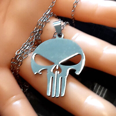 Necklace and Pendant Skull / Punisher mit hohem Wiedererkennungswert