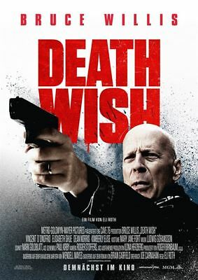 DEATH WISH ~ Filmposter A1 ~ Bruce Willis