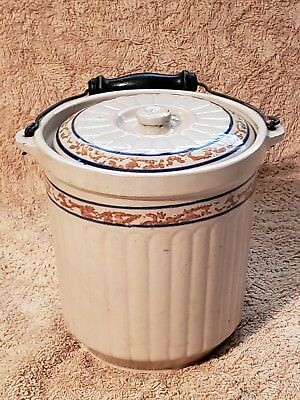Red Wing Spongeband  Covered Gray Line Butter Jar Pail #5