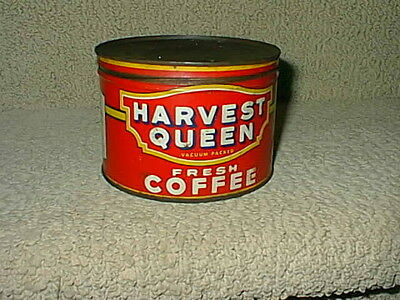 Vintage Red Owl Harvest Queen 1lb Coffee Old Tin Metal Can
