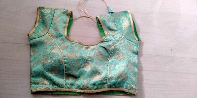 Indian Silk Saree Blouse Designer Saree Blouse Fashion Green Saree Blouse