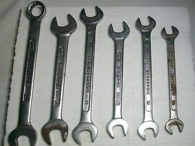 6x vintage sidchrome metric spanners