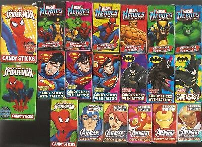 46 Different Superheroes Candy Stick Packets