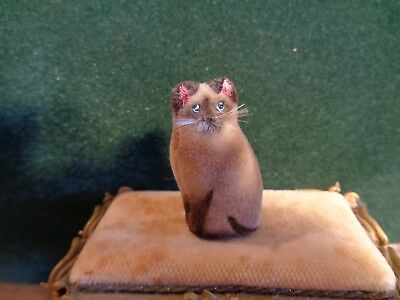dollhouse miniature  cat ~ hand made ~ siamese