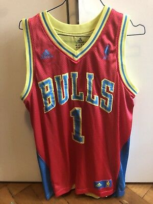 nba Trikot Chicago Bulls M Rose Summer Blau Pink