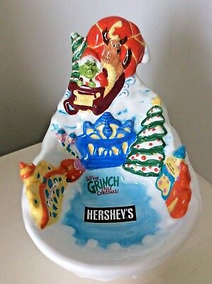 HERSHEY'S How the Grinch Stole Christmas 2002 Collectable Candy Dish Dr. Suess