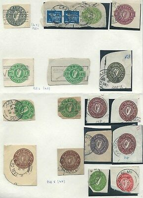 1924 - 1986 Ireland Stationery Cut Outs collection registered envelopes etc.