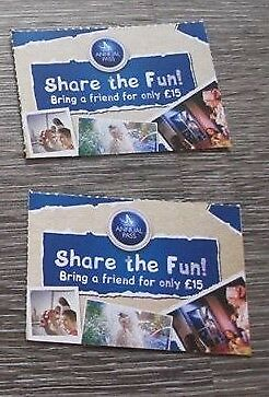 2 x Share The Fun For £15 Merlin Voucher. Must have valid Premium Annual Pass