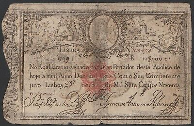 Banknote From Portugal 1799 C1