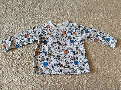 H&M Snoopy Baby Shirt Gr. 68 sehr guter Zustand