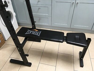 Weight lifting bench adjustable and fold away. Bench press dumbbell etc gym