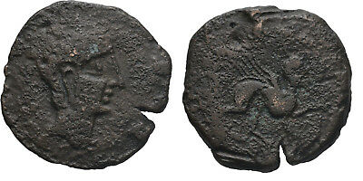 Ancient Greece 2 Cent BC Celtic IBERIA SPAIN SEMIS CASTULO Spinx Large AE