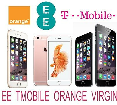Unlock Code Service For Iphone 6S 6S Plus 6 Plus 6 5S 5C 5 Uk Ee Orange T-Mobile