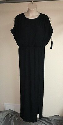 7b852b4d622b1 MYNT 1792 Dress Black White Plus Size 14W Womens Full Length Back Zip Detail  NWT