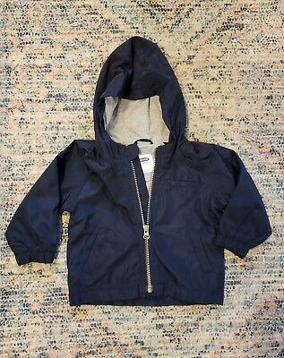 old navy 12-18 months boys spring jacket. navy blue. lined. euc!