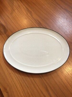 Denby Energy Celadon and Charcoal Oval Platter