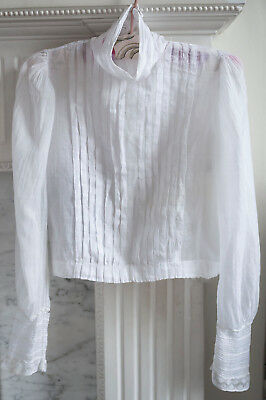Antique child's muslin blouse from France