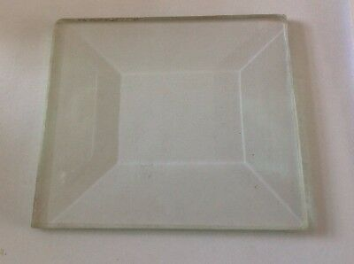 Bevelled Clock Glass Panel Rectangle  95x105mm 27mm Bevel, 5mm Thick