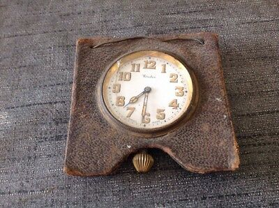 ANTIQUE SWISS TRAVEL CLOCK For Repair Or Parts