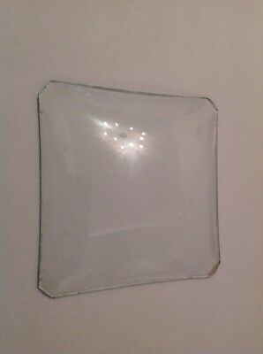 Clock Glass Square Convex  100mm X 100mm Clockmakers Spare Part