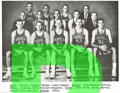 1960-61 Akron Goodyears College  Basketball  Reprint Team Photo