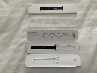 Apple Watch Sport Band 42 MM M/L Hole Side Only Genuine (Black/Space Grey)